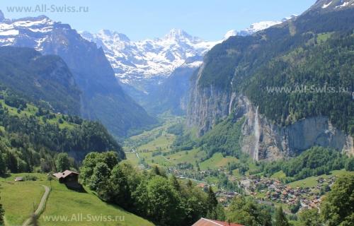 Альпийские пейзажи Швейцарии