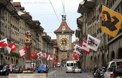 Одна из центральных улиц Берна