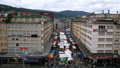 Рынок в городе Биль