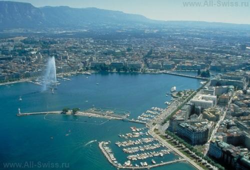 Вид на Женеву с высоты птичьего полета