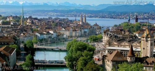 Панорамный вид на центральную часть Цюриха