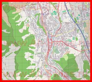 Подробная карта города Адлисвиль