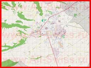 Подробная карта города Альтштеттен