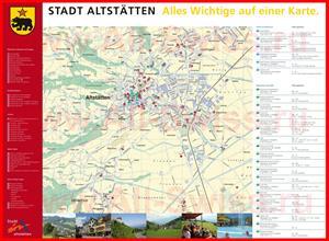 Туристическая карта Альтштеттена с отелями
