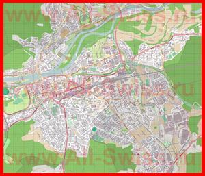 Подробная карта города Арау