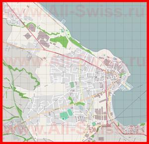 Подробная карта города Арбон