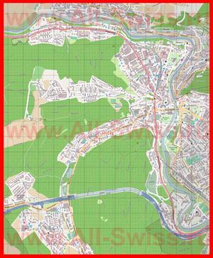 Подробная карта города Баден