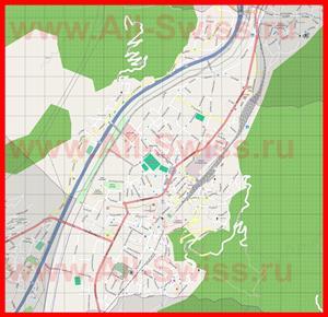 Подробная карта города Беллинцона