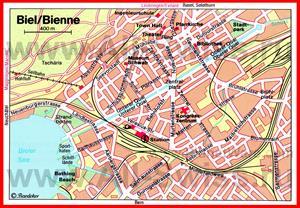 Карта Биля с достопримечательностями