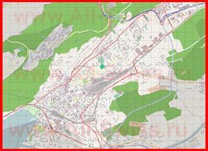 Подробная карта города Биль