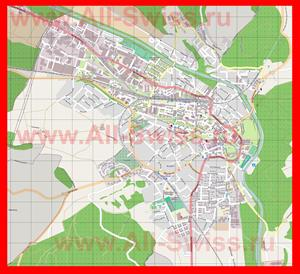 Подробная карта города Бургдорф