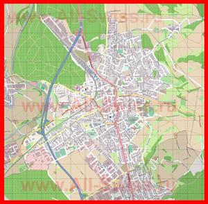 Подробная карта города Бюлах