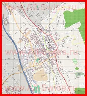 Подробная карта города Цофинген