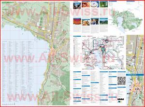 Подробная туристическая карта города Цуг