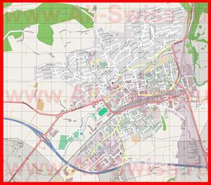 Подробная карта города Делемон