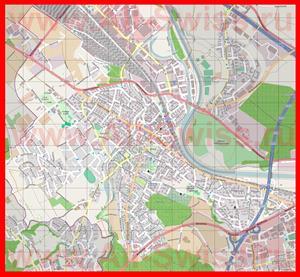 Подробная карта города Дитикон