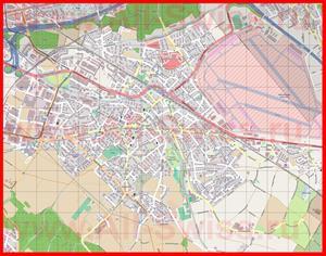 Подробная карта города Дюбендорф