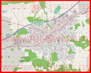 Подробная карта города Фрауэнфельд