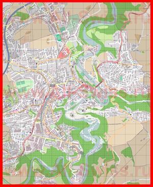Подробная карта города Фрибур