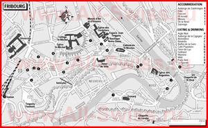 Туристическая карта Фрибура с отелями и ресторанами