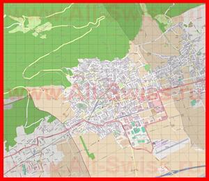 Подробная карта города Гренхен