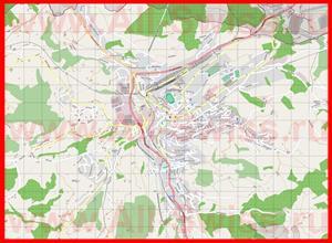 Подробная карта города Херизау
