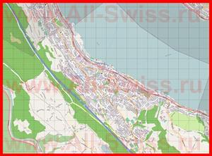 Подробная карта города Хорген