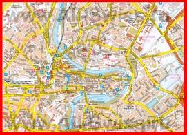 Подробная карта города Берн