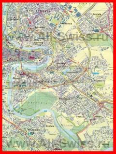 Туристическая карта Берна с достопримечательностями