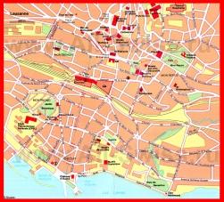 Карта Лозанны с достопримечательностями