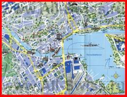 Подробная карта Люцерна с достопримечательностями