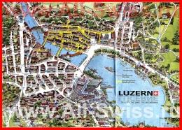Туристическая карта города Люцерн