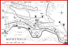 Подробная карта города Монтрё
