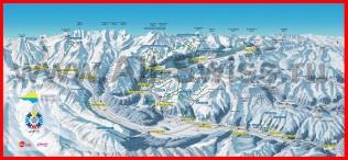 Карта горнолыжного курорта Санкт-Мориц