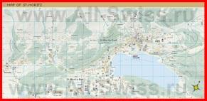 Подробная карта Санкт-Морица