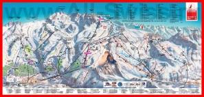 Карта горнолыжного курорта Церматт