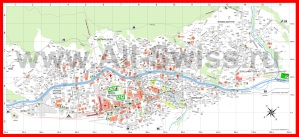 Подробная туристическая карта Церматта