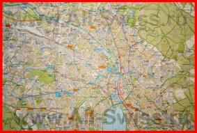 Подробная карта города Цюрих