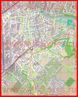 Подробная карта города Каруж