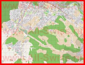 Подробная карта города Кёниц