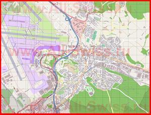 Подробная карта города Клотен
