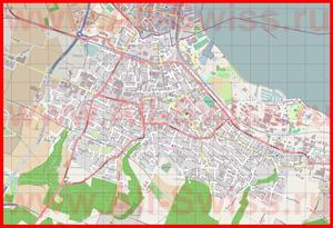 Подробная карта города Кройцлинген