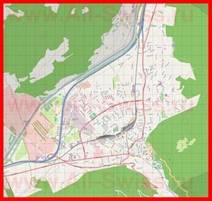 Подробная карта города Кур