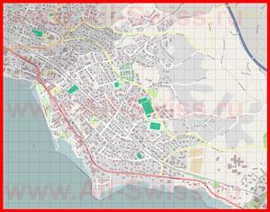 Подробная карта города Ла Тур-Де-Пей