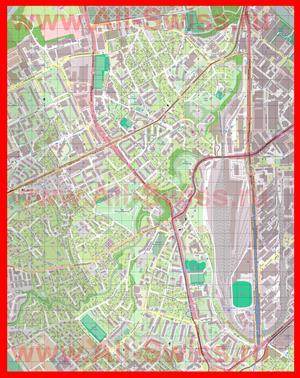 Подробная карта города Ланси