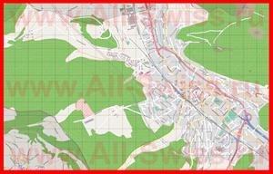 Подробная карта города Листаль