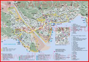 Подробная карта города Локарно