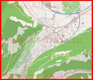 Подробная карта города Мартиньи