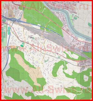 Подробная карта города Муттенц