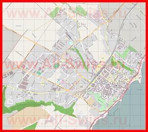 Подробная карта города Ньон